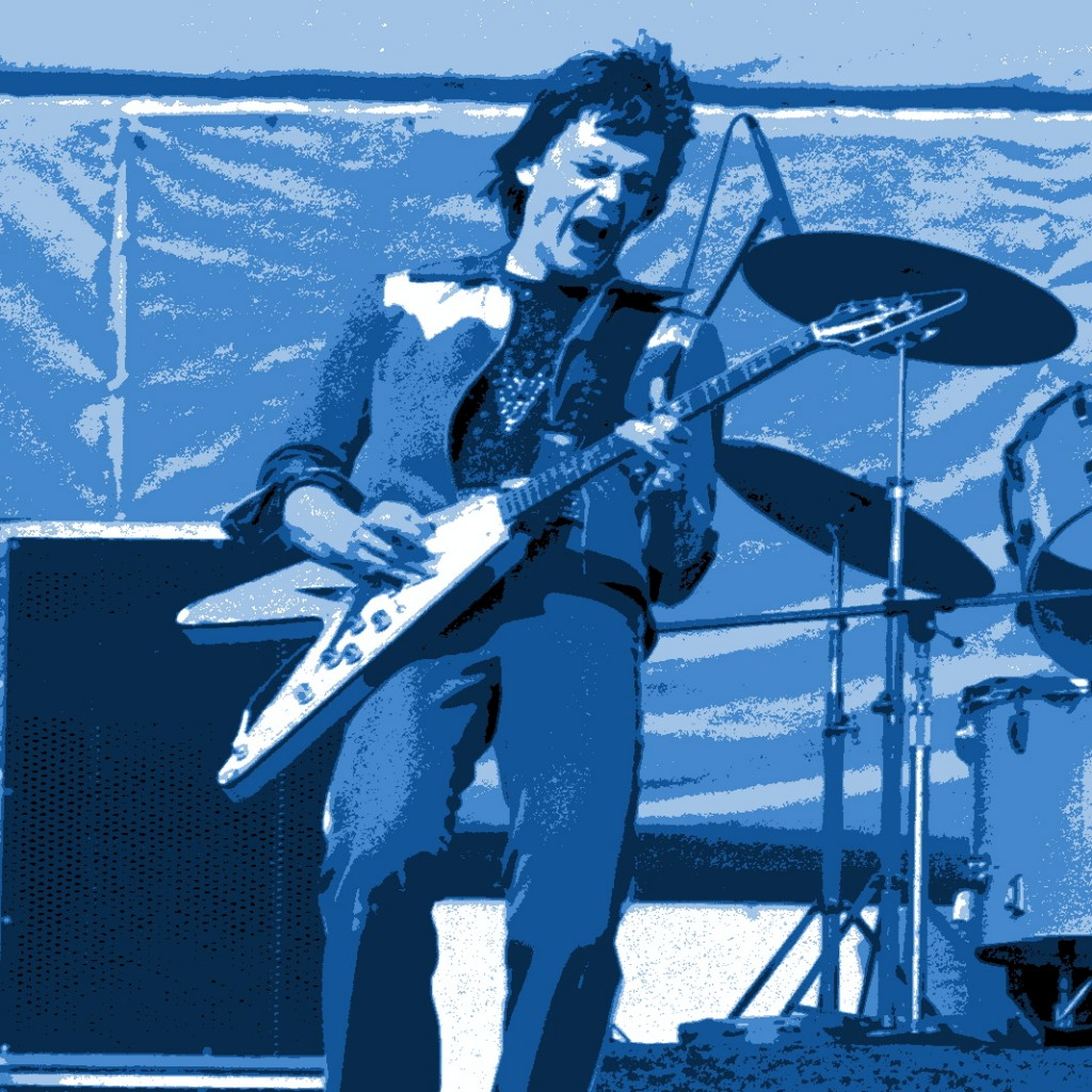 J. GEILS ON HIS GUITAR AT THE COLISEUM IN OAKLAND, CA. ON 6-6-76. PHOTO BY BEN UPHAM.