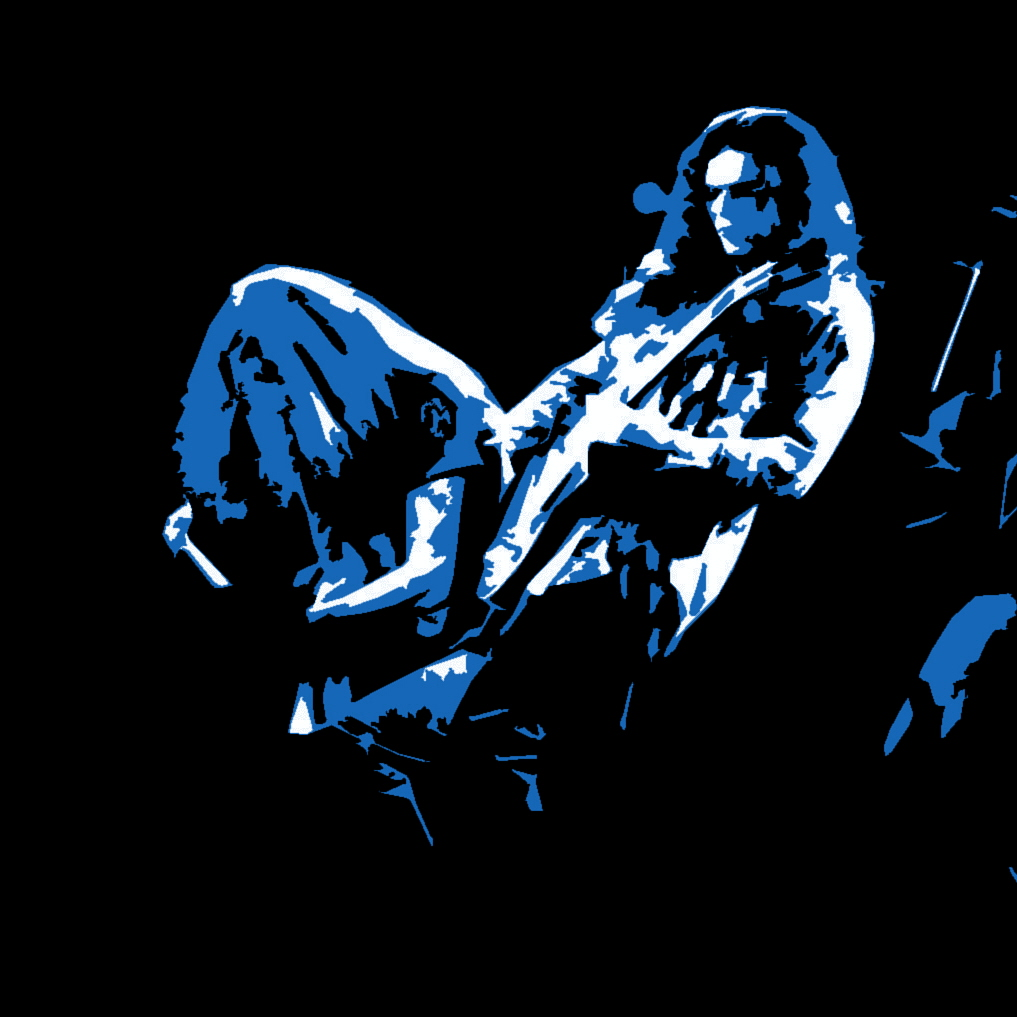 LYNYRD SKYNYRD PERFORMING LIVE IN SPOKANE, WA. ON 10-7-76. PHOTO/ART BY BEN UPHAM. MAGICAL MOMENT PHOTOS.