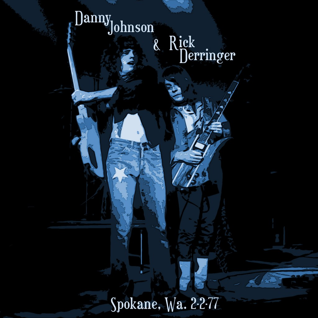 DERRINGER PERFORMING LIVE IN SPOKANE, WA. ON 2-2-77. PHOTO BY BEN UPHAM. MAGICAL MOMENT PHOTOS.
