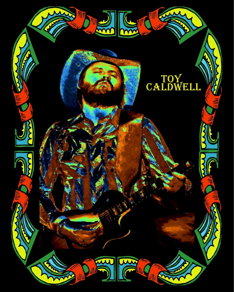 TOY CALDWELL OF THE MARSHALL TUCKER BAND PERFORMING LIVE IN CHENEY, WA. ON 5-26-77. PHOTO BY BEN UPHAM. MAGICAL MOMENT PHOTOS.