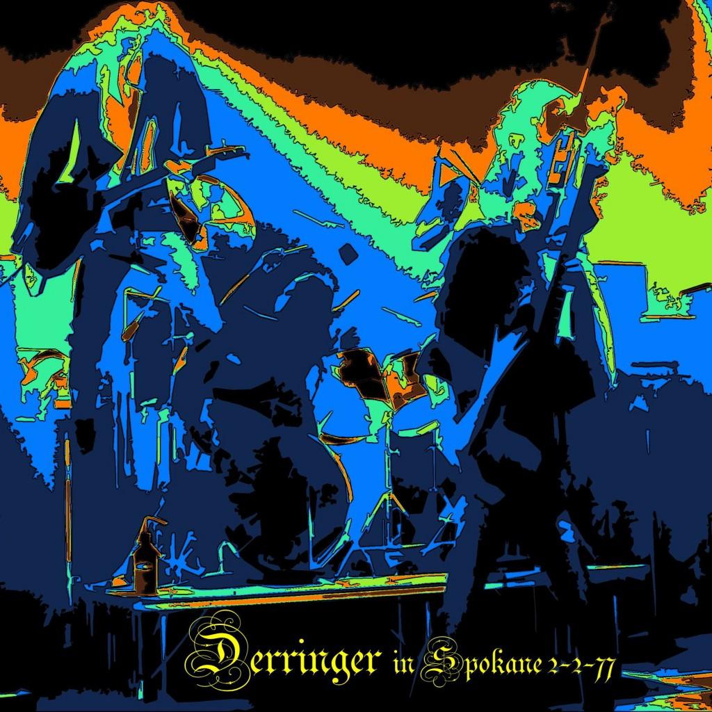 Rick Derringer on stage in Spokane, Wa. on 2-2-77. Photo by Ben Upham.