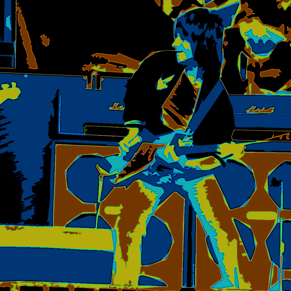 JEFF BECK PERFORMING LIVE IN OAKLAND, CA. ON 6-6-76. PHOTO ART BY BEN UPHAM. MAGICAL MOMENT PHOTOS.