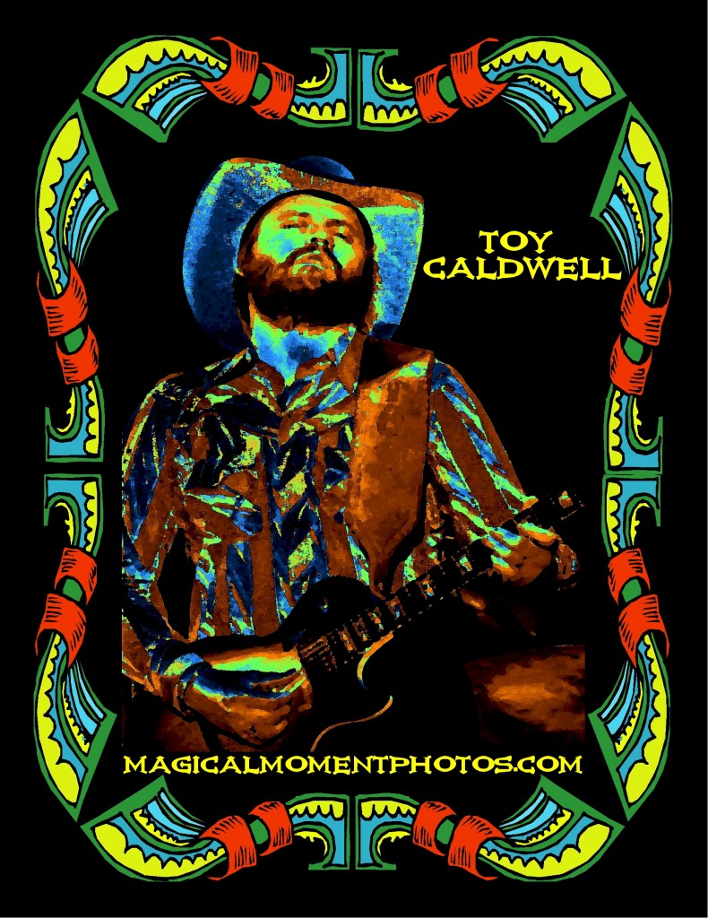 TOY CALDWELL OF THE MARSHALL TUCKER BAND PERFORMING LIVE IN CHENEY, WA. ON MAY 26, 1977. PHOTO ART BY BEN UPHAM. MAGICAL MOMENT PHOTOS.