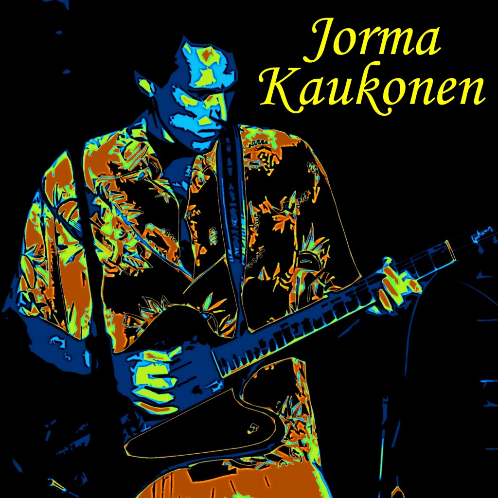 JORMA KAUKONEN PERFORMING ELECTRIC ROCK AT THE OLD WALDORF IN SAN FRANCISCO, CA. ON 6-8-79. PHOTO-ART BY BEN UPHAM. MAGICAL MOMENT PHOTOS.