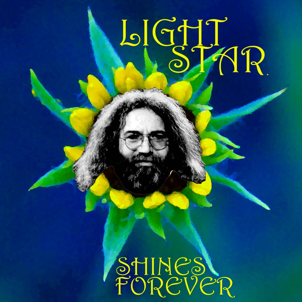 Jerry Garcia. His Spirit will Shine Forever. Photo-Art by Ben Upham. Magical Moment Photos.