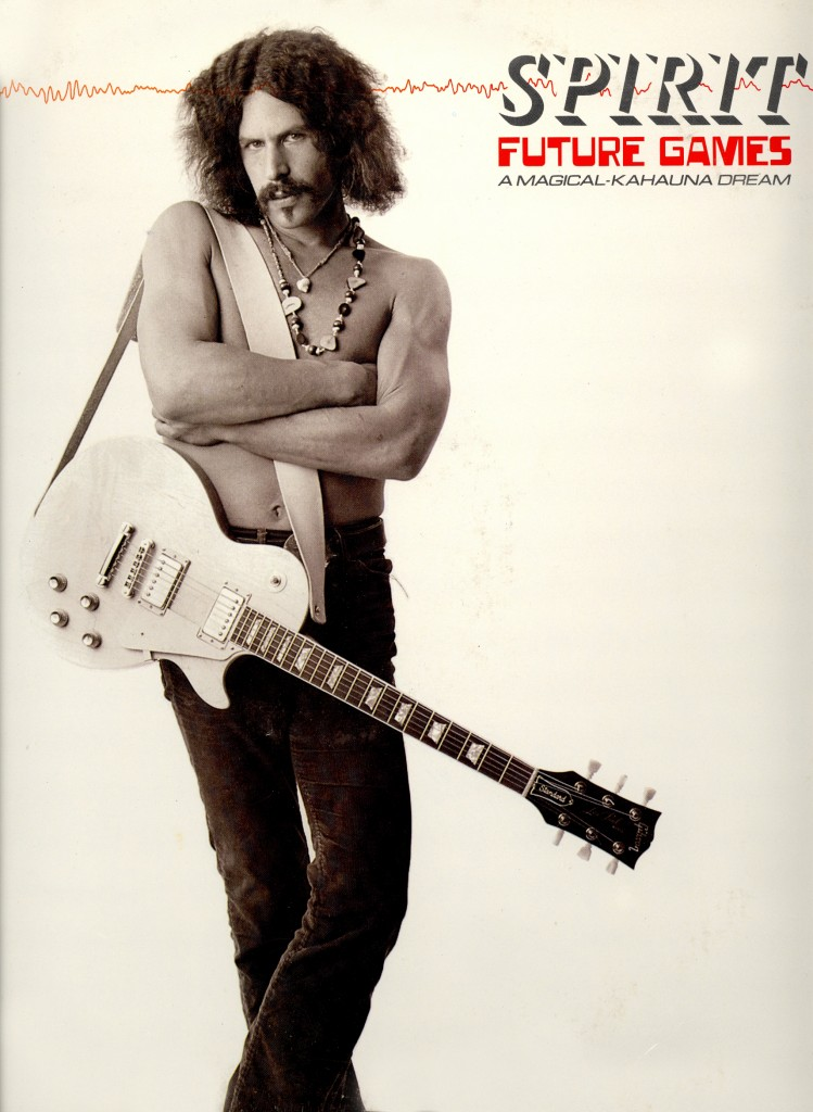"RANDY CALIFORNIA ON THE COVER OF THE 1977 SPIRIT ALBUM, ""FUTURE GAMES"" (A MAGICAL-KAHAUNA DREAM)."