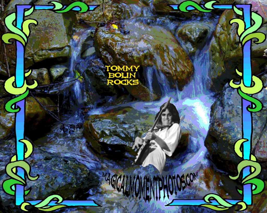 Tommy Bolin jamming in a creek on Mt. Tamalpais. Image by Ben Upham. Magical Moment Photos.