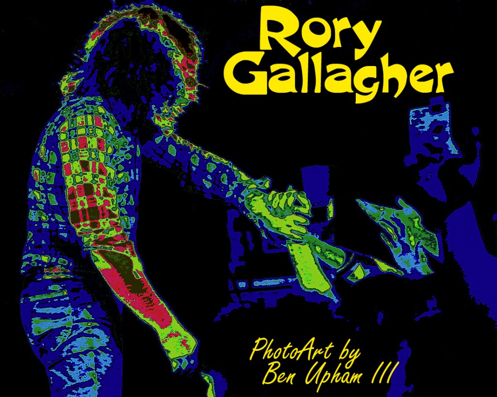 RORY GALLAGHER SHAKING HANDS WITH HIS GREAT FANS