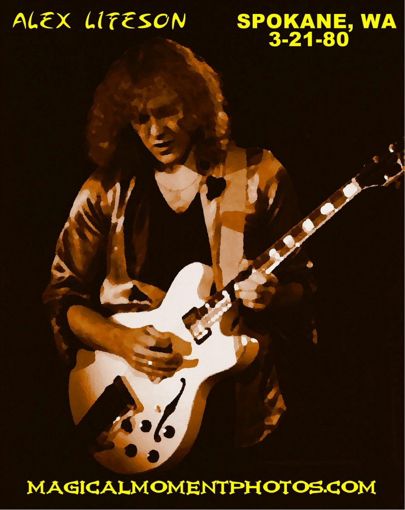 ALEX LIFESON OF THE BAND RUSH