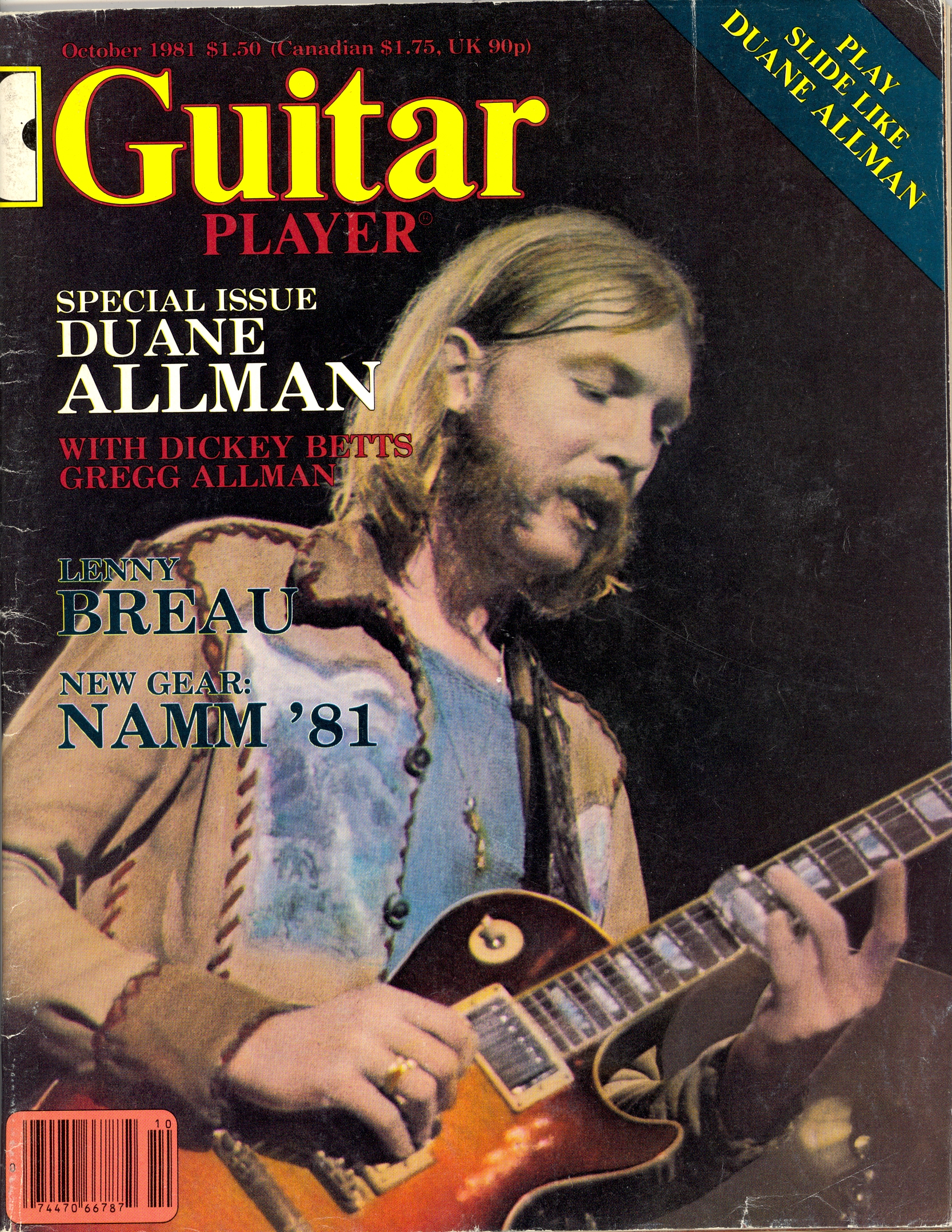 Duane Allman Magazine Cover